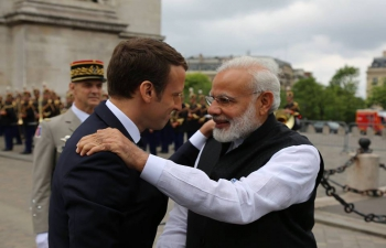On the occasion of forthcoming visit of French President Emmanuel Macron to India in March, 2018