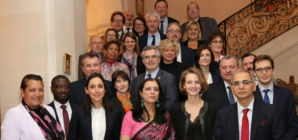 A reception was hosted on 07 February at India House in honour of Indo-French Friendship Group of the National Assembly