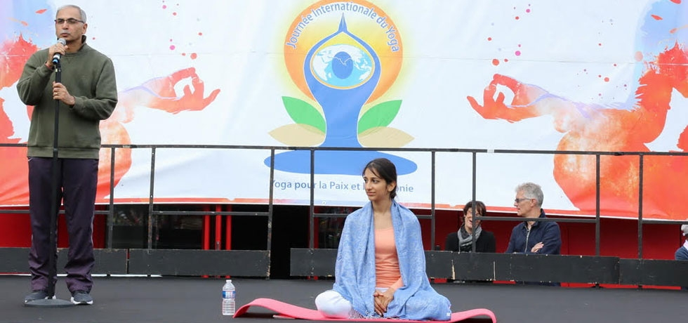 Celebration of Fourth International Day of Yoga in Paris on 16 June