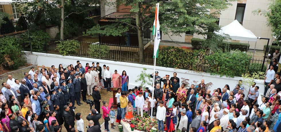 Celebration of 72nd Independence Day at Embassy of India in Paris