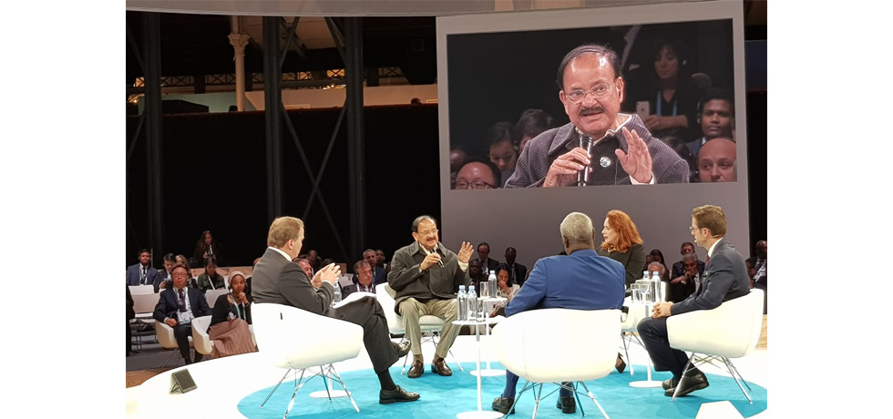 Hon'ble Vice President Shri M. Venkaiah Naidu participated in Paris Peace Forum during visit to France from November 9-11, 2018. At Paris Peace Forum, Hon'ble Vice President Shri M. Venkaiah Naidu spoke on