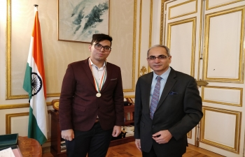 Pravasi Bhartiya Divas celebration at the  Embassy of India, Paris on January 09, 2018
