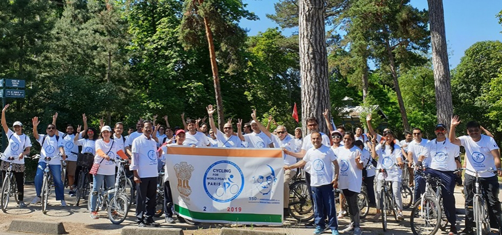 Embassy of India organised Bicycle Rally