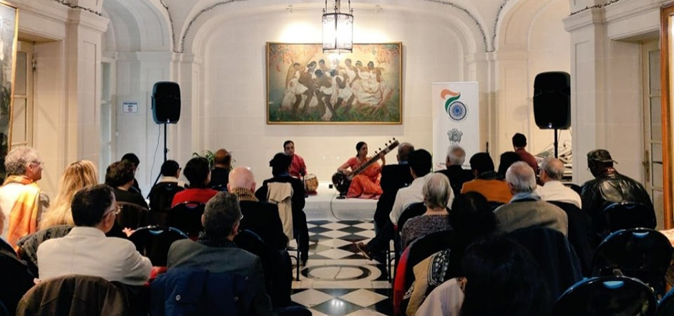 A Classical Musical Concert  was organised at the Embassy of India,Paris.