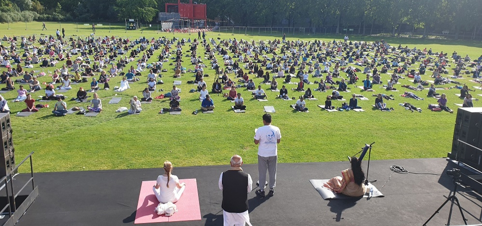 Embassy of India, Paris celebrated fifth International Day of Yoga 2019 at La Villette on 15.06.2019