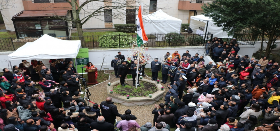 Celebration of 71st Republic Day of India at the Embassy of India in Paris
