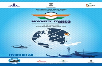 Wings India 2020 from March 12-15, 2020 at Hyderabad