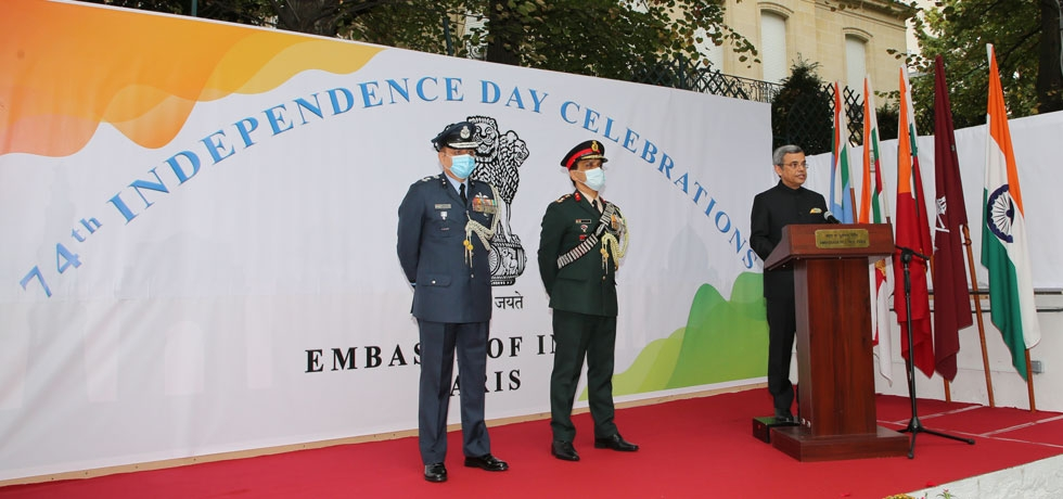 Celebration of 74th Independence Day at the Embassy of India in Paris
