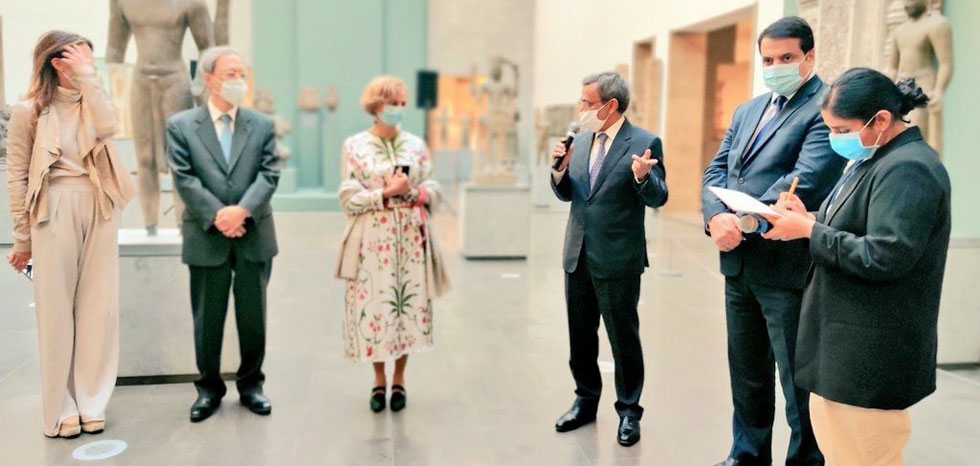 Ambassador Mr.Jawed Ashraf inaugurated Asia Now Paris exhibition at Guimet National Museum of Asian Arts
