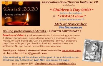 Celebration of Diwali and Children Day 2020