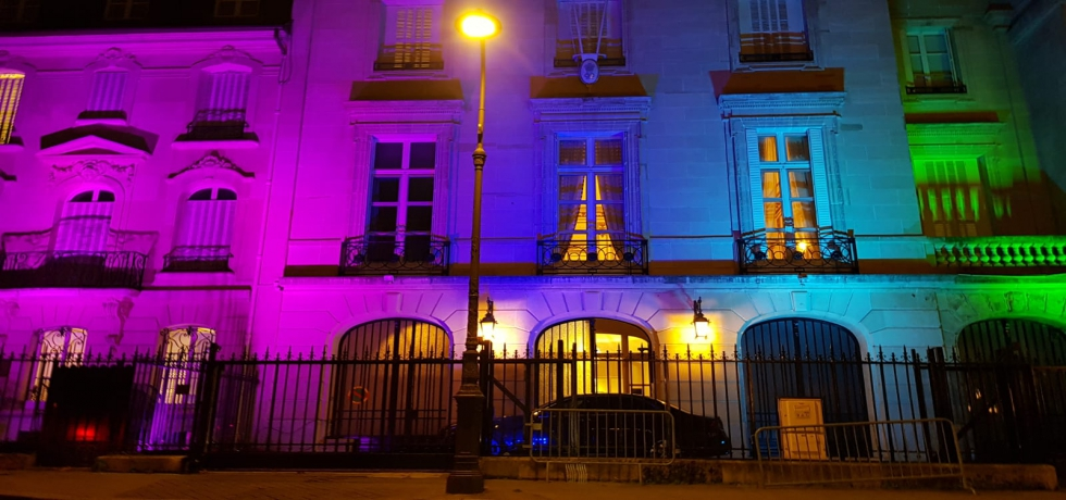 Embassy of India, Paris lights up to celebrate Diwali 2020