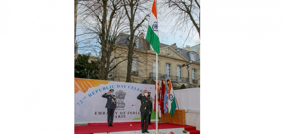 Celebrations of 72nd Republic Day at the Embassy of India, Paris