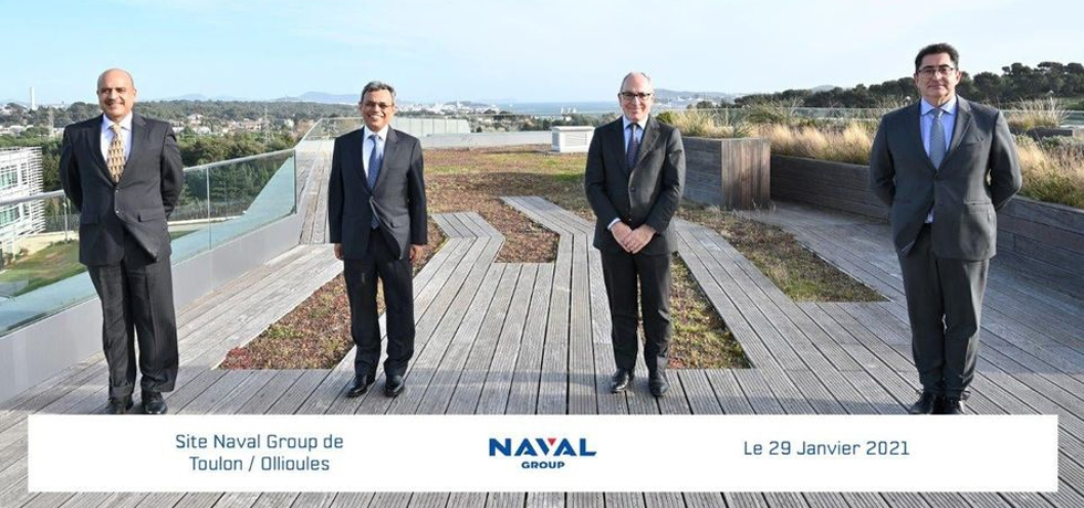 Ambassador of India to France, Jawed Ashraf meeting French Naval Action Force Commander and Aircraft Carrier Strike Group Commander at one of the largest naval bases in the world in Toulon, France