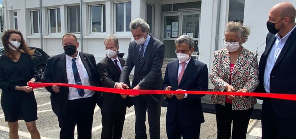 Ambassador HE Jawed Ashraf inaugurated new facilities of Indian company Electrosteel in Arles, France with Mayor Patrick Carolis and MP Monica Michel.