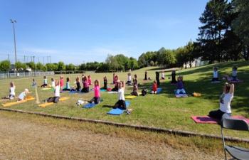 Session of Yoga Asana along with Music (for 1 hour) at  Montoir de Bretagne