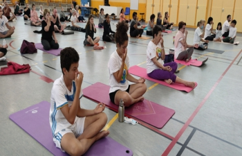 Session of Yoga Asana along with Music (for 1 hour) at Pornichetalso (20th June 2021)