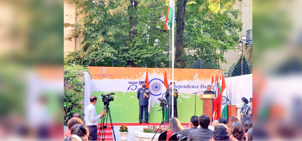 Ambassador HE Jawed Ashraf read out the speech addressed to the nation by the President of India Shri Ram Nath Kovind on the Eve of India's 75th Independence Day.