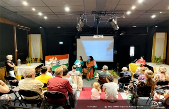 Gandhi Jayanti Celebration on the occasion of the 75th anniversary of India's independence ; Conference - Concert - Projection