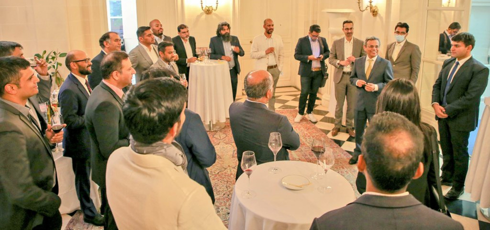 HE Ambassador Jawed Ashraf met with Indian professionals making a mark in France's digital transformation in Fintech sector in France, discussed India's Fintech revolution and ways to strengthen India-France digital partnership